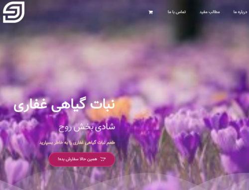 طراحی فروشگاه اینترنتی آنلاین غفاری